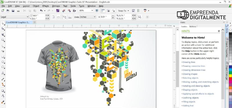 coreldraw editor de imagens e vetor para wordpress